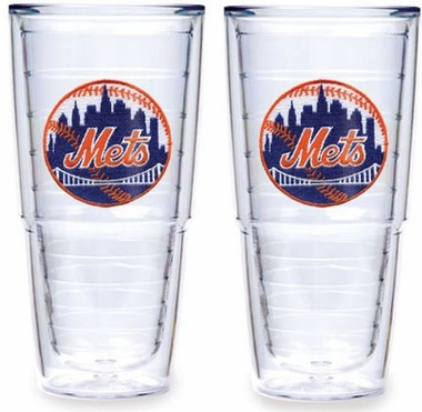 "New York Mets Set of TWO 24 oz. ""Big T"" Tervis Tumblers"