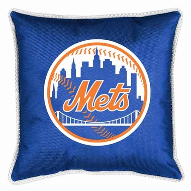 New York Mets SIDELINES Jersey Material Toss Pillow