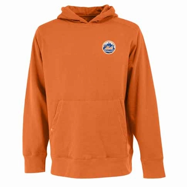 New York Mets Mens Signature Hooded Sweatshirt (Alternate Color: Orange)