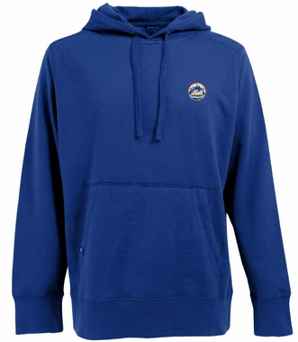 New York Mets Mens Signature Hooded Sweatshirt (Team Color: Royal)