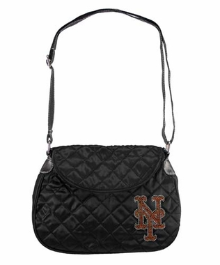 New York Mets Sport Noir Quilted Saddlebag