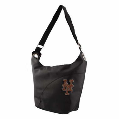 New York Mets Sport Noir Sheen Hobo Purse