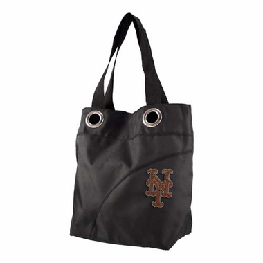 New York Mets Sport Noir Sheen Tote
