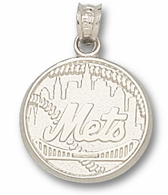 New York Mets Sterling Silver Pendant