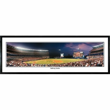 New York Mets Subway Series Framed Panoramic Print