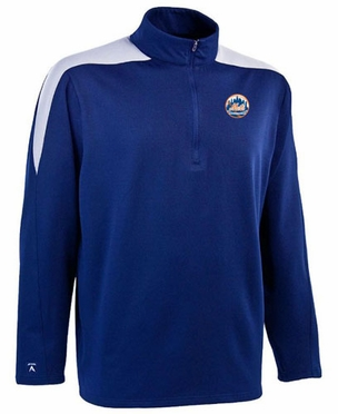 New York Mets Mens Succeed 1/4 Zip Performance Pullover (Team Color: Royal) - Medium