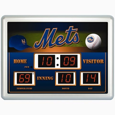 New York Mets Time / Date / Temp. Scoreboard