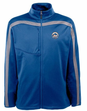 New York Mets Mens Viper Full Zip Performance Jacket (Team Color: Royal)