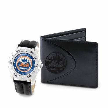 New York Mets Watch and Wallet Gift Set