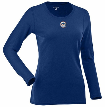 New York Mets Womens Relax Long Sleeve Tee (Team Color: Royal)