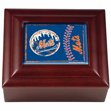 New York Mets Wooden Keepsake Box