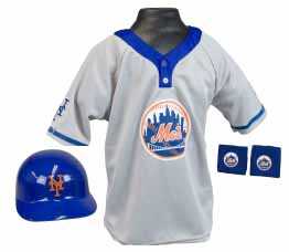 New York Mets YOUTH Helmet and Jersey Set