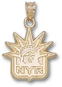New York Rangers 10K Gold Pendant
