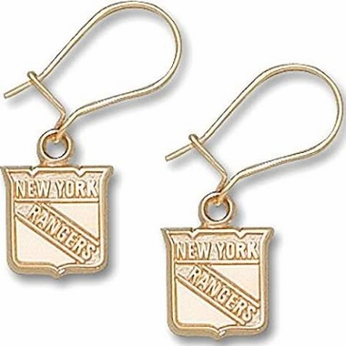New York Rangers 10K Gold Post or Dangle Earrings