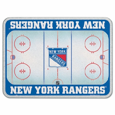 New York Rangers 11 x 15 Glass Cutting Board