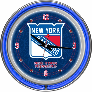 New York Rangers 14 Inch Neon Clock