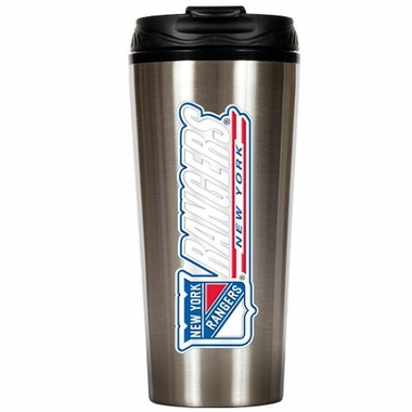 New York Rangers 16 oz. Thermo Travel Tumbler