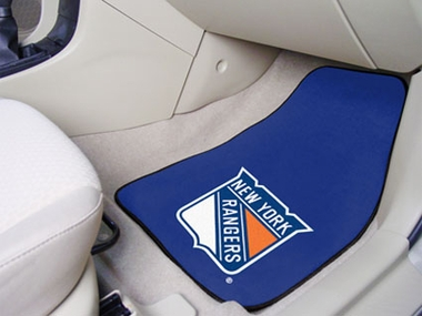 New York Rangers 2 Piece Car Mats
