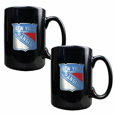 New York Rangers 2 Piece Coffee Mug Set