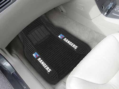 New York Rangers 2 Piece Heavy Duty DELUXE Vinyl Car Mats