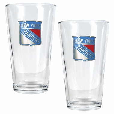 New York Rangers 2 Piece Pint Glass Set
