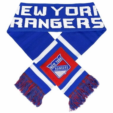 New York Rangers 2012 Team Stripe Knit Scarf