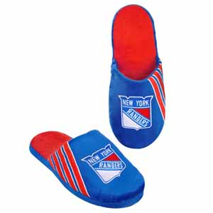 New York Rangers 2012 Team Stripe Logo Slippers - Large