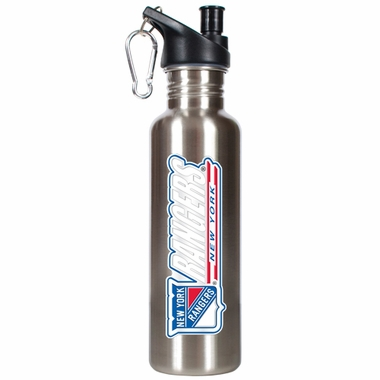 New York Rangers 26oz Stainless Steel Water Bottle (Silver)