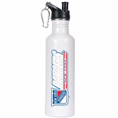 New York Rangers 26oz Stainless Steel Water Bottle (White)