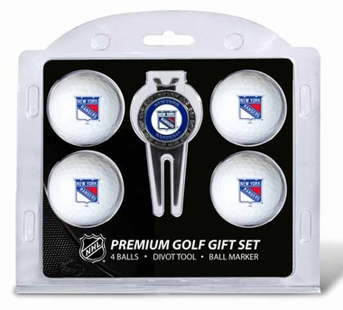 New York Rangers 4 Ball and Tool Gift Set