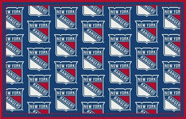 "New York Rangers 5'4"" x 7'8"" Premium Pattern Rug"