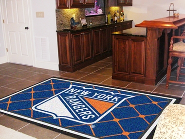 New York Rangers 5 Foot x 8 Foot Rug