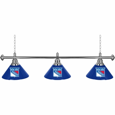 New York Rangers 60 Inch 3 Shade Billiard Lamp