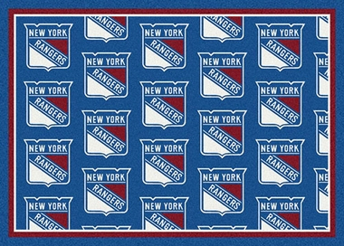 "New York Rangers 7'8 x 10'9"" Premium Pattern Rug"