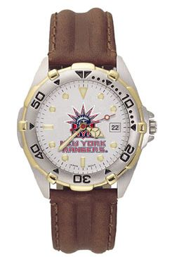 New York Rangers All Star Mens (Leather Band) Watch