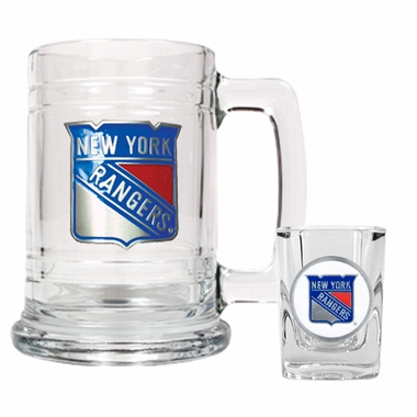 New York Rangers Boilermaker Set