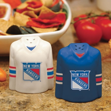 New York Rangers Ceramic Jersey Salt and Pepper Shakers