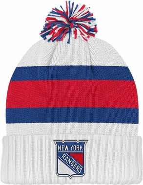 New York Rangers Cuffed Knit Pom Hat