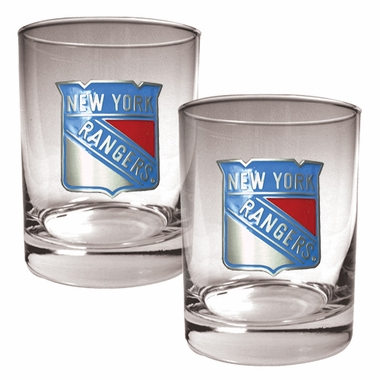 New York Rangers Double Rocks Set