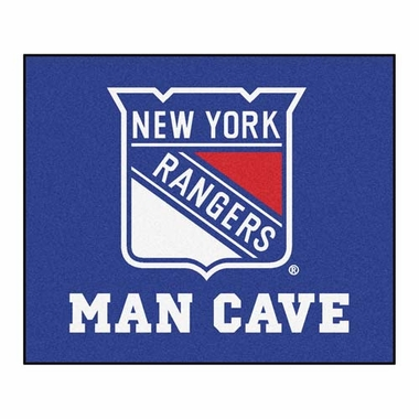 New York Rangers Economy 5 Foot x 6 Foot Man Cave Mat