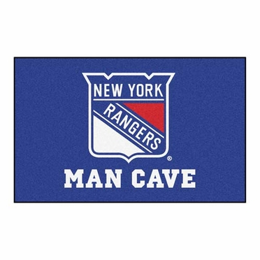 New York Rangers Economy 5 Foot x 8 Foot Man Cave Mat