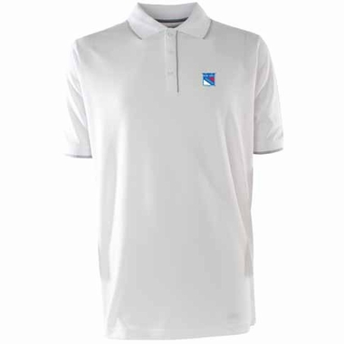 New York Rangers Mens Elite Polo Shirt (Color: White)