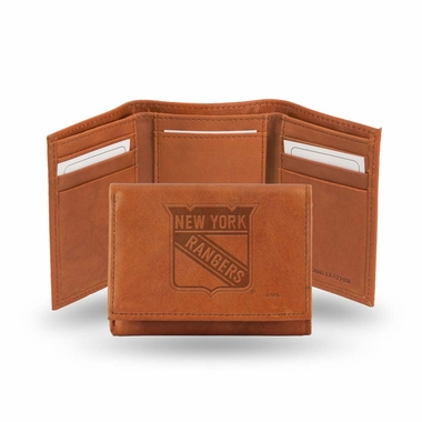 New York Rangers Embossed Leather Trifold Wallet