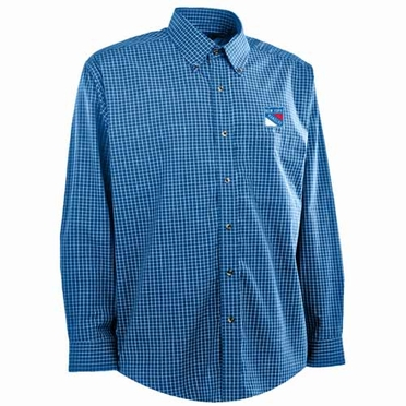 New York Rangers Mens Esteem Button Down Dress Shirt (Team Color: Royal)