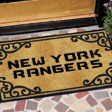 New York Rangers Exterior Door Mat