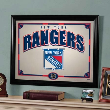 New York Rangers Framed Mirror