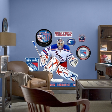 New York Rangers Henrik Lundqvist Fathead Wall Graphic