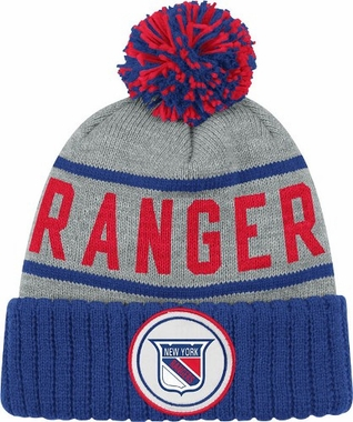 New York Rangers High 5 Vintage Cuffed Pom Hat