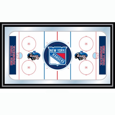 New York Rangers Hockey Bar Mirror
