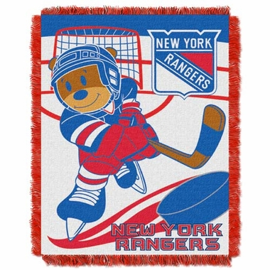New York Rangers Jacquard BABY Throw Blanket